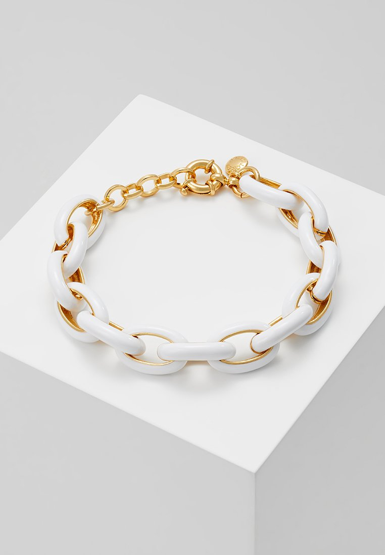 J.CREW - MONICA OVAL CHAIN - Armband - white