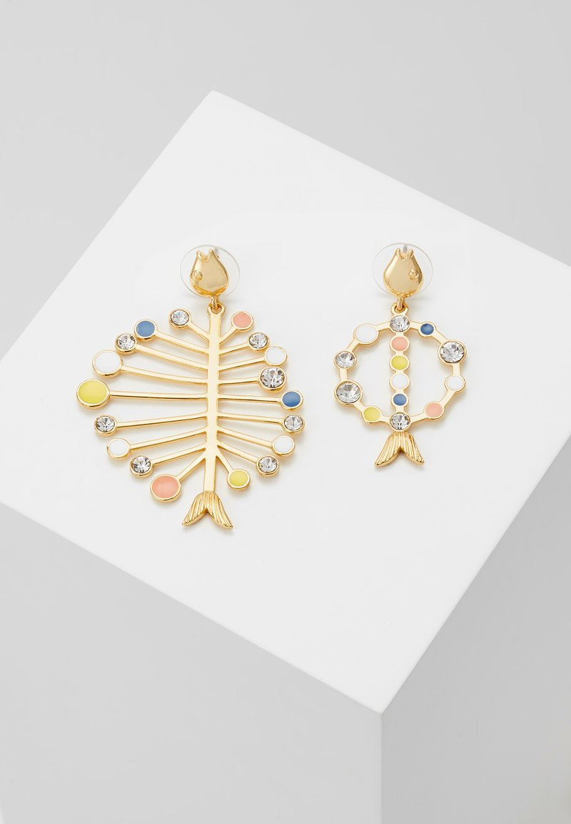 J.CREW - ASSYMETRICAL FISH EARRING - Earrings - multi
