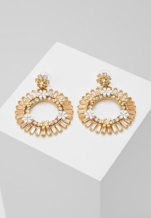 FLOWER STATEMENT EARRING - Oorbellen - crystal