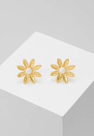 FLOWER STUD EARRING - Kolczyki - gold-coloured