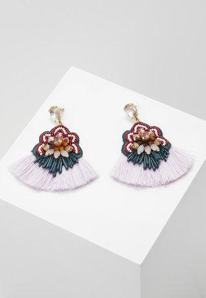 BOTANICAL MIXED FRINGE EARRINGS - Oorbellen - pale blush