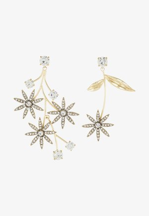 PAVE DAISY EARRINGS - Örhänge - gold-coloured