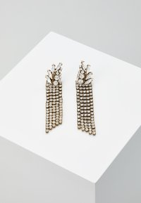 J.CREW - PAVE FEATHER CHAIN EARRINGS - Orecchini - crystal - 0