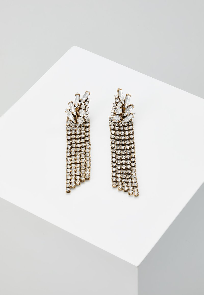 J.CREW - PAVE FEATHER CHAIN EARRINGS - Boucles d'oreilles - crystal