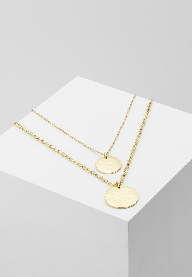 LAYERED COIN NECKLACE - Halskette - gold-coloured