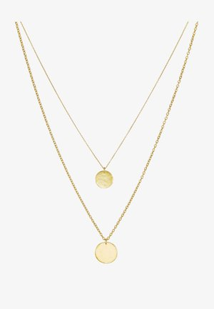 LAYERED COIN NECKLACE - Collier - gold-coloured
