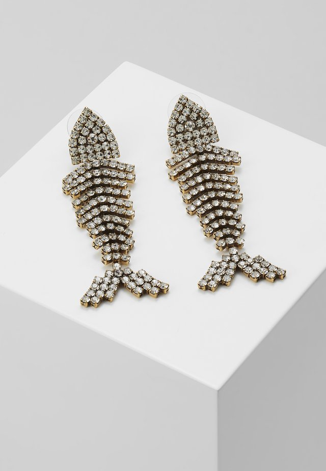 BONEFISH PAVE EARRINGS - Örhänge - silver-coloured