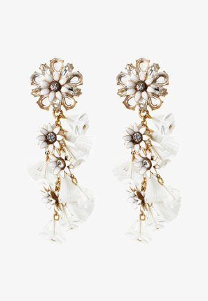 BLOOM FLOWER STATEMENT EARRINGS - Earrings - crystal