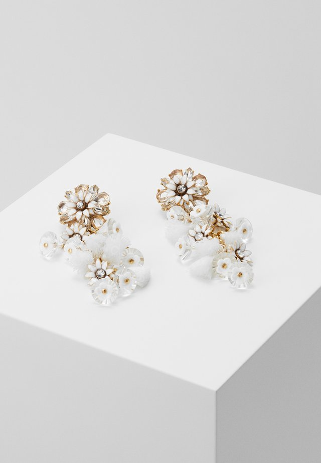 BLOOM FLOWER STATEMENT EARRINGS - Náušnice - crystal