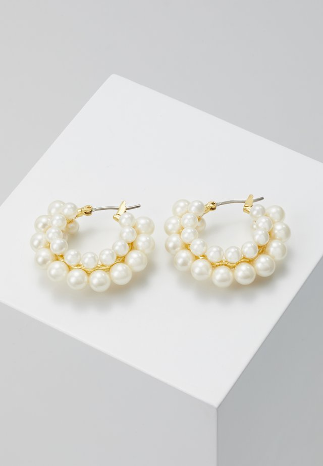 CLUSTER HOOP EARRINGS - Náušnice - white