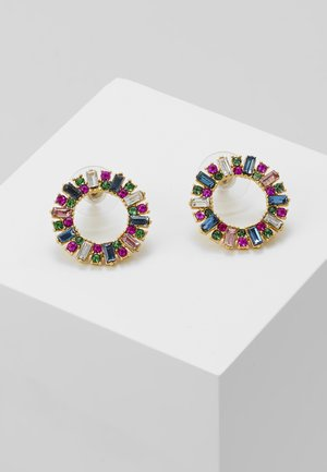 PAVI CIRCLE STUD EARRINGS - Oorbellen - multi color