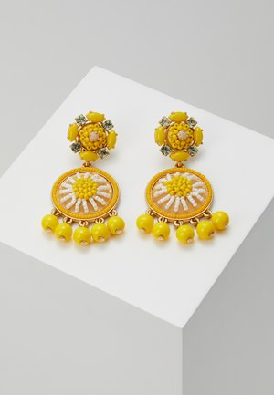 BEADED DROP EARRINGS - Oorbellen - brilliant citron