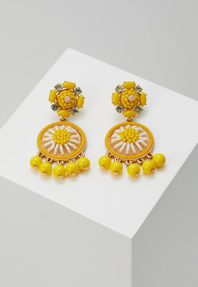 BEADED DROP EARRINGS - Örhänge - brilliant citron