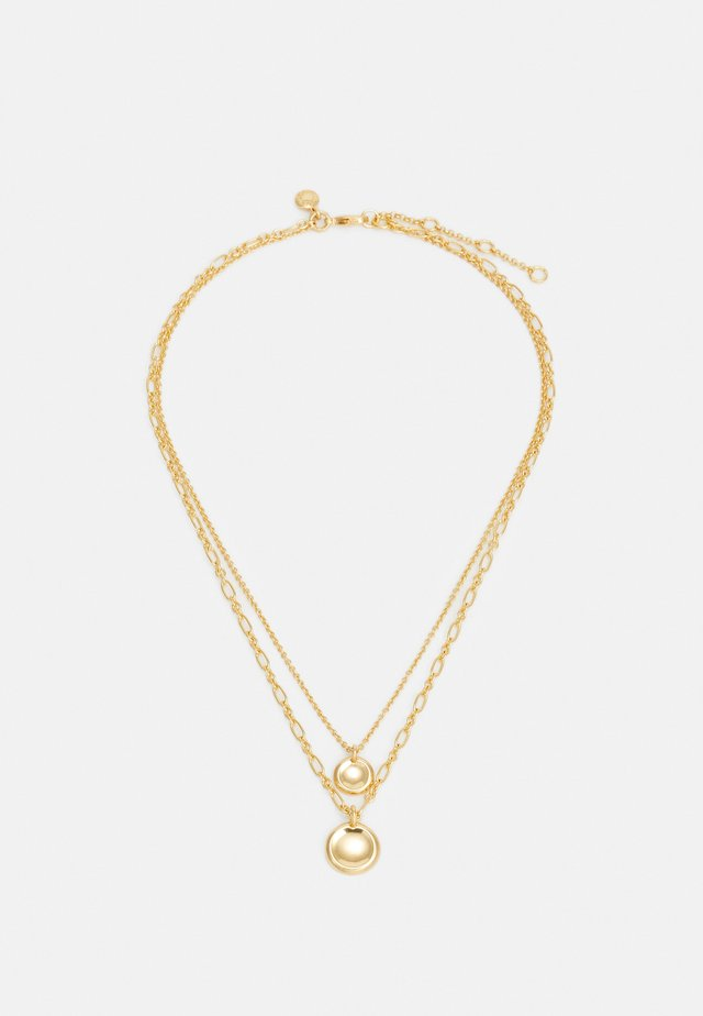 LAYERED COIN NECKLACE - Halsband - gold-colored