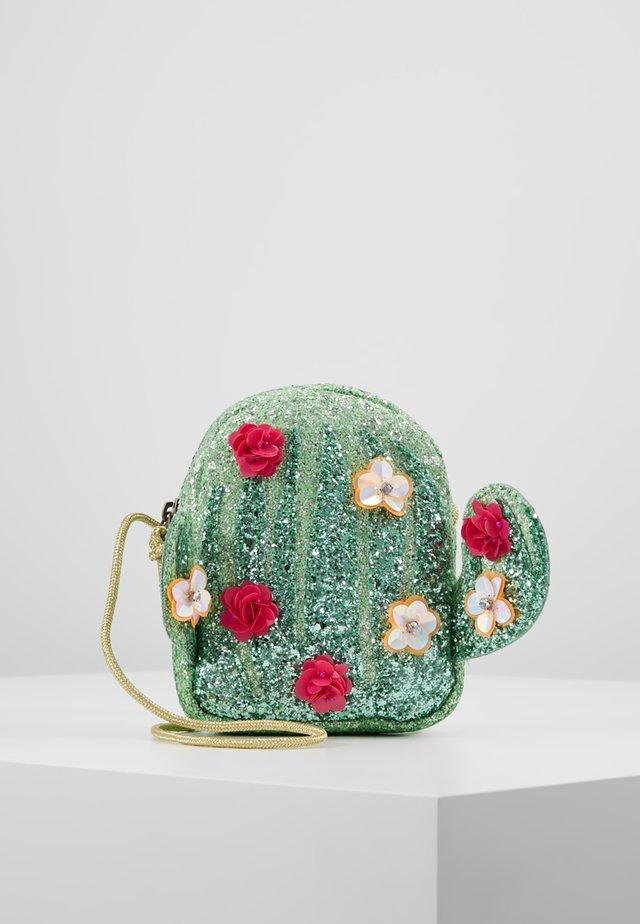 CACTUS GLITTER BAG - Umhängetasche - vivid emerald