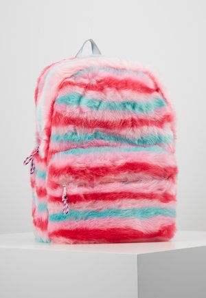 FURRY STRIPE BACKPACK - Tagesrucksack - pink