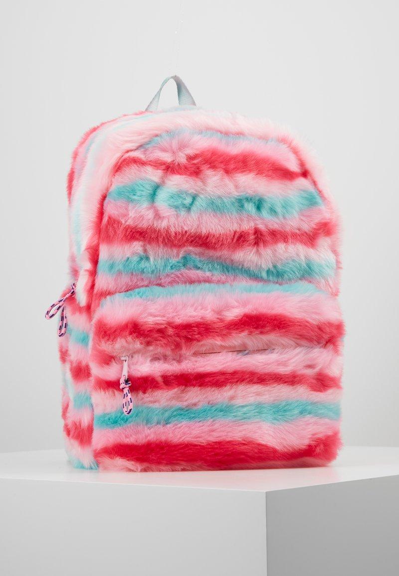 J.CREW - FURRY STRIPE BACKPACK - Rucksack - pink