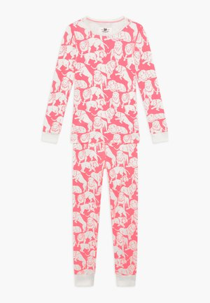 SLEEP TIGER - Nachtwäsche Set - neon pink ivory