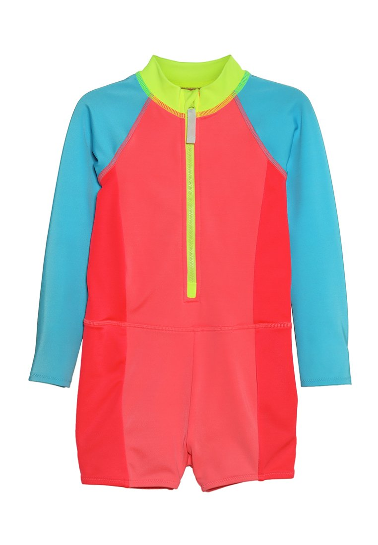 J.CREW - COLORBLOCK GIRLS WET SUIT - Swimsuit - glow azure red