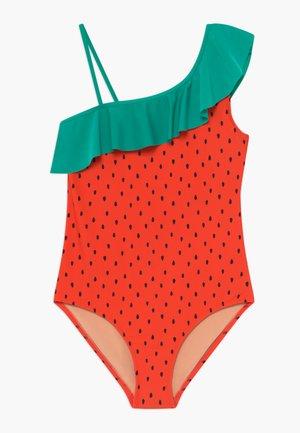 RUFFLE WATERMELON - Swimsuit - red/green