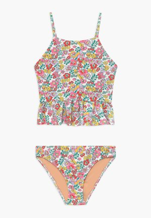 PEPLUM TANKINI FLORAL - Swimsuit - aqua pink