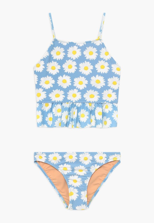 PEPLUM TANKINI DAISY - Badpak - light blue/white