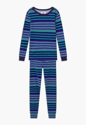 MULTI STRIPE SLEEP - Pijama - blue/green