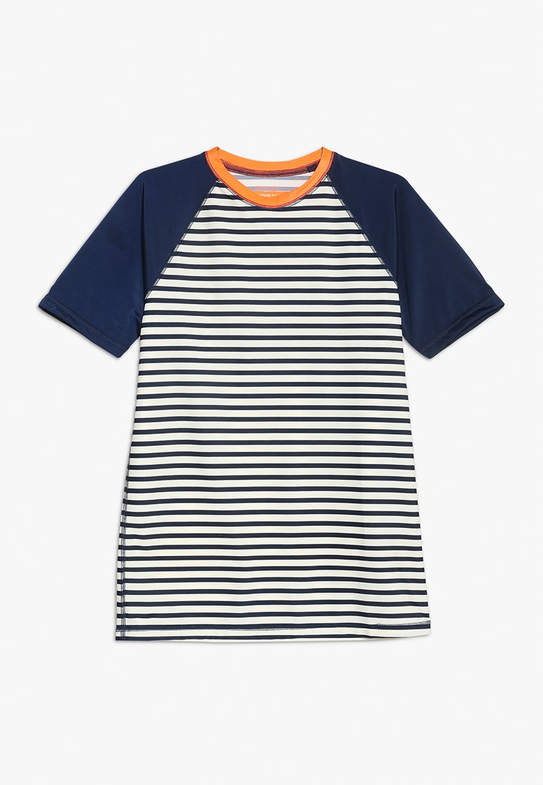 J.CREW - BOYS STRIPED RAGLAN RASHGUARD - Rash vest - navy