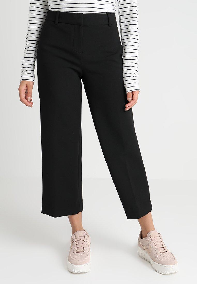 J.CREW PETITE - EVERYBODY WIDE LEG - Trousers - black