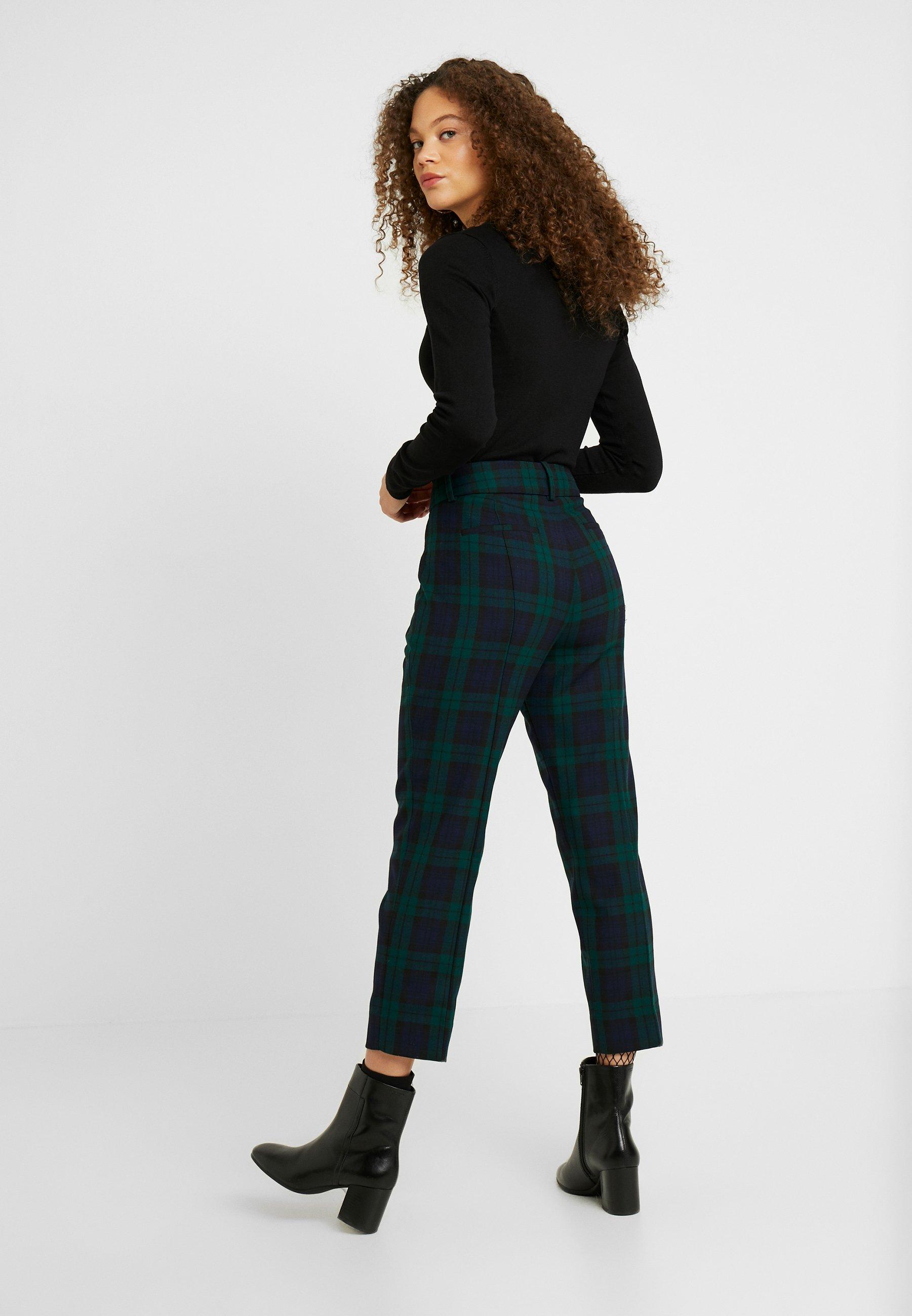 J.CREW PETITE CAMERON BLACKWATCH - Spodnie materiałowe - green
