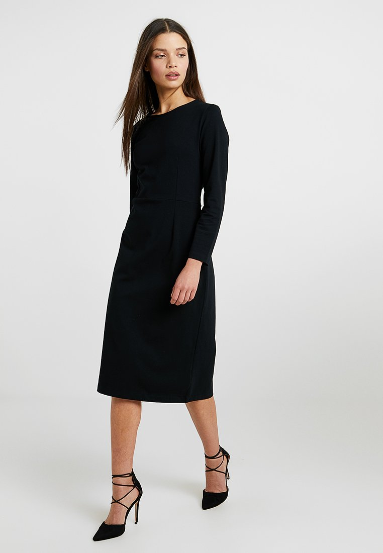 J.CREW PETITE - DRESS SOLID - Jersey dress - black
