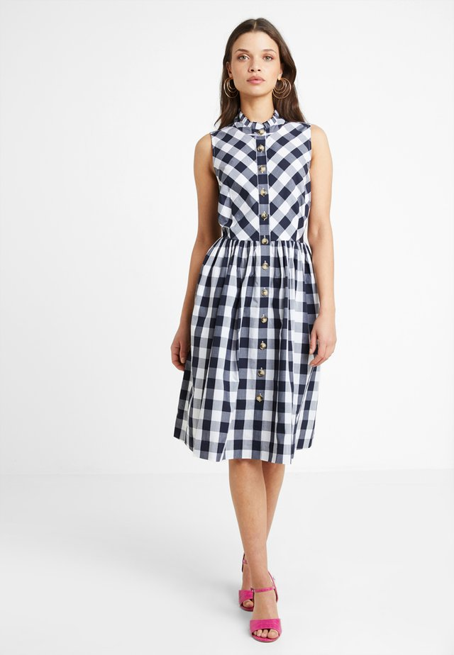 ROBIN DRESS POPLIN - Skjortekjole - navy/white