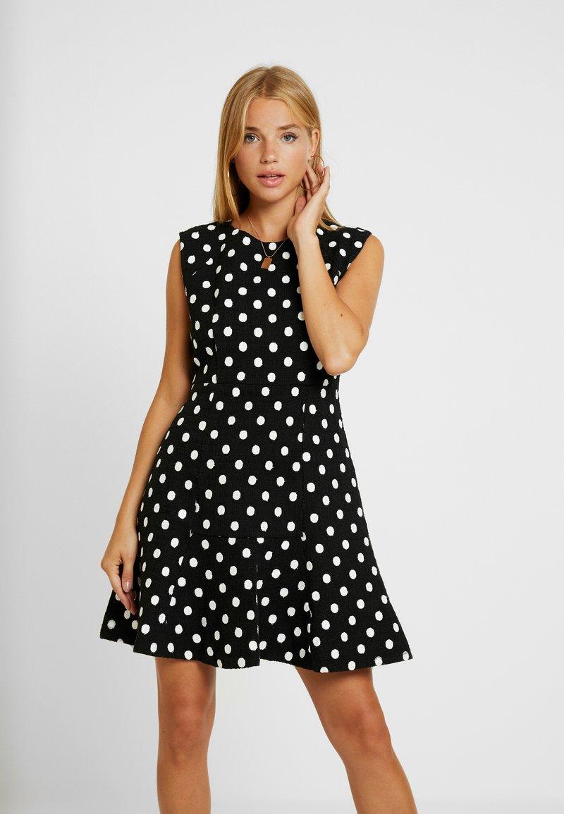 J.CREW PETITE - MARCY DRESS TEXTURED TWEED - Day dress - black/ivory