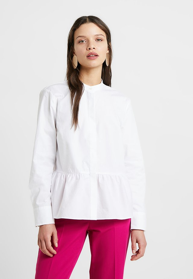 RUM BLOUSE STRETCH POPLIN - Skjortebluser - white