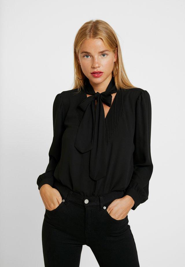 DRAPEY TIE NECK - Bluse - black