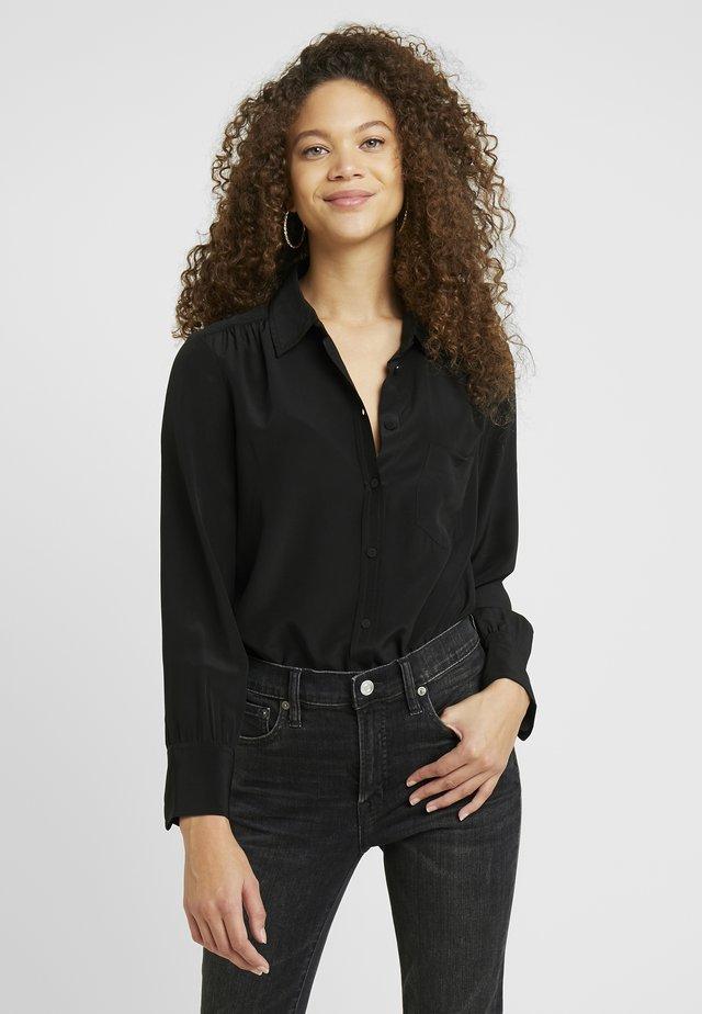 ROBBIE  - Button-down blouse - black