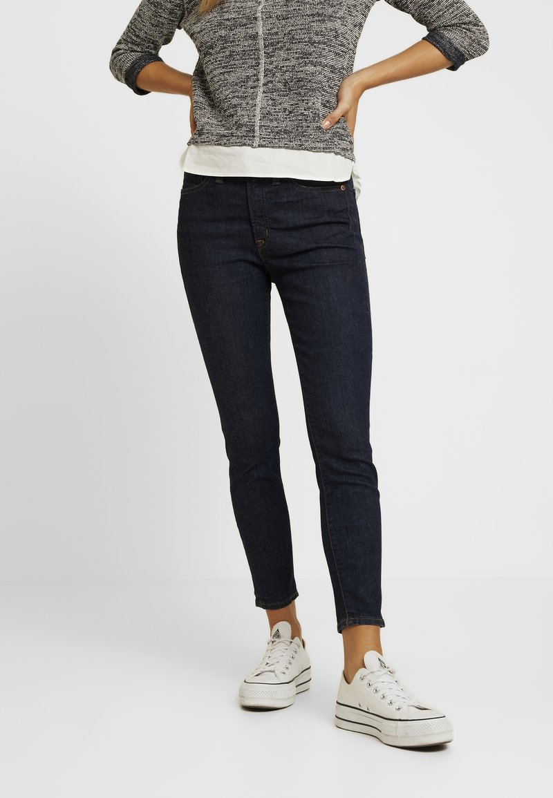 J.CREW PETITE - LOOKOUT HIGH RISE NEW CLASSIC RINSE - Jeans Skinny Fit - dark blue denim