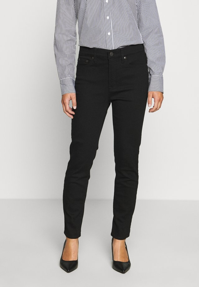 LOOKOUT HIGH RISE - Jeansy Slim Fit - true black