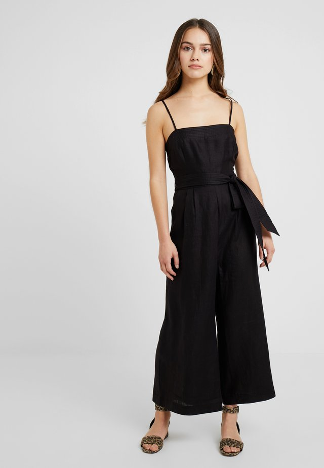 WITH TIE - Overall / Jumpsuit /Buksedragter - black