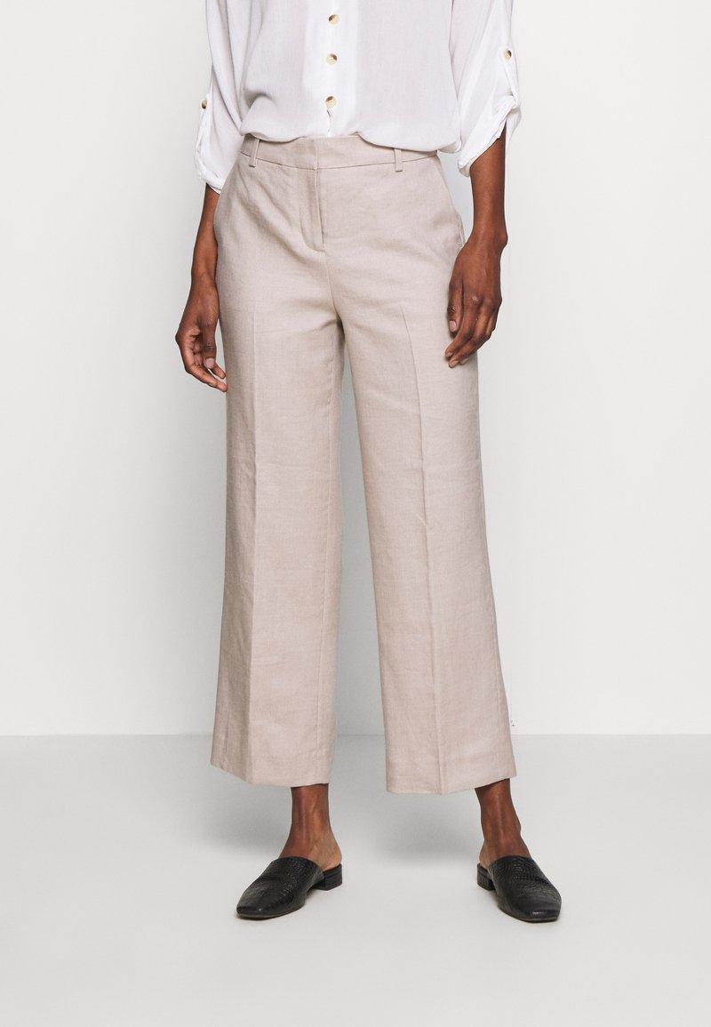 J.CREW TALL - EVERYBODY WIDELEG PANT TRAVELER - Trousers - beige