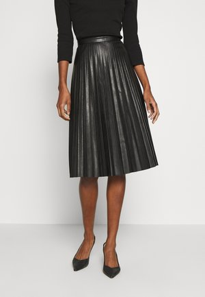 SUNBURST PLEATED SKIRT - A-Linien-Rock - black
