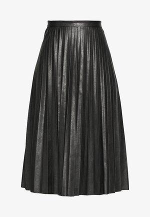 SUNBURST PLEATED SKIRT - A-line skjørt - black