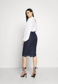 J.CREW TALL - JANIS PENCIL - Pencil skirt - navy - 4