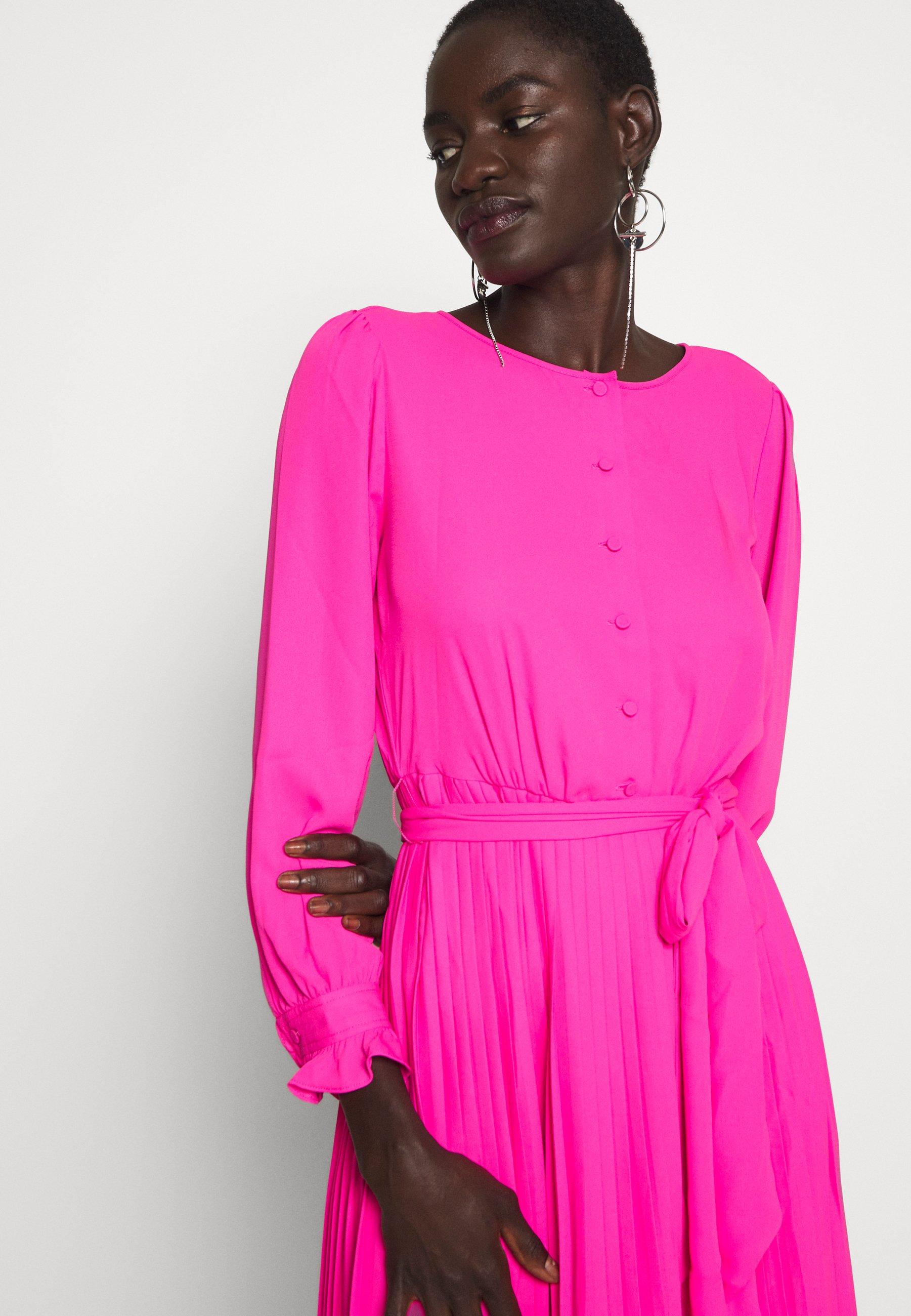 J.crew Tall Solid Carly Dress - Skjortekjole Neon Flamingo