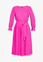 SOLID CARLY DRESS - Paitamekko - neon flamingo