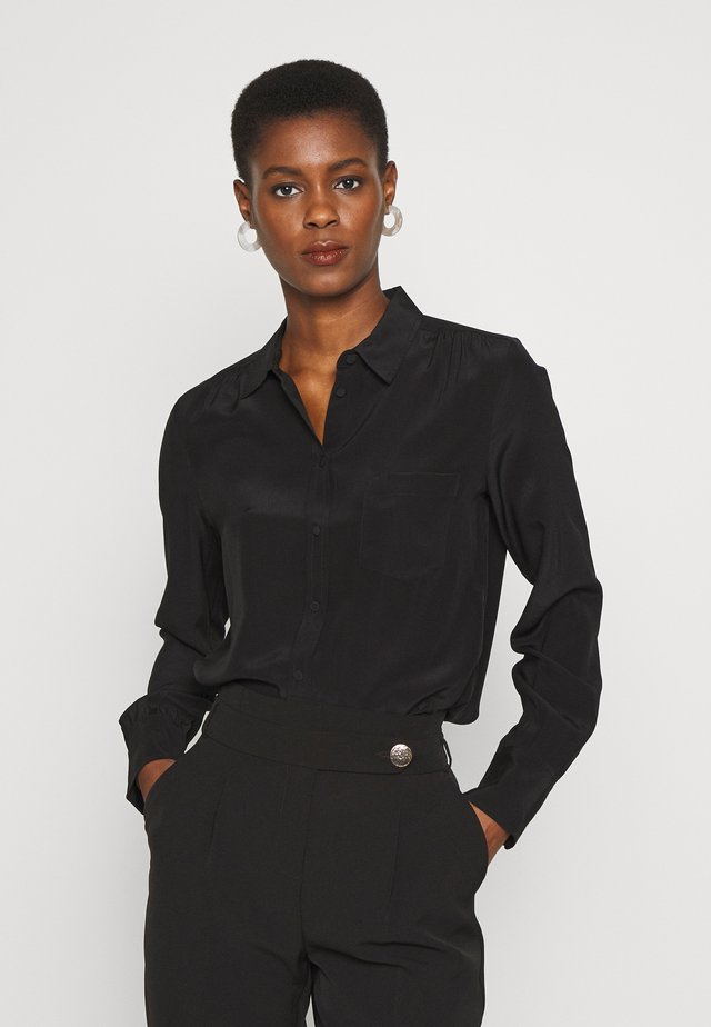 BUTTON-UP SHIRT  - Bluzka - black
