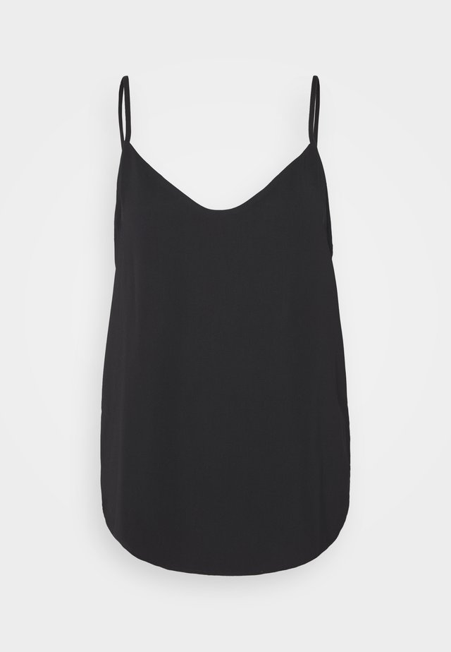 V NECK - Top - black