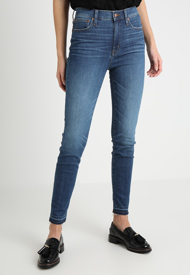 J.CREW TALL - HIGHER RISE TOOTHPICK - Jeansy Skinny Fit - bright indigo wash