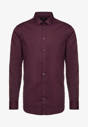 JIM STRETCH SLIM FIT - Kostymskjorta - aubergine