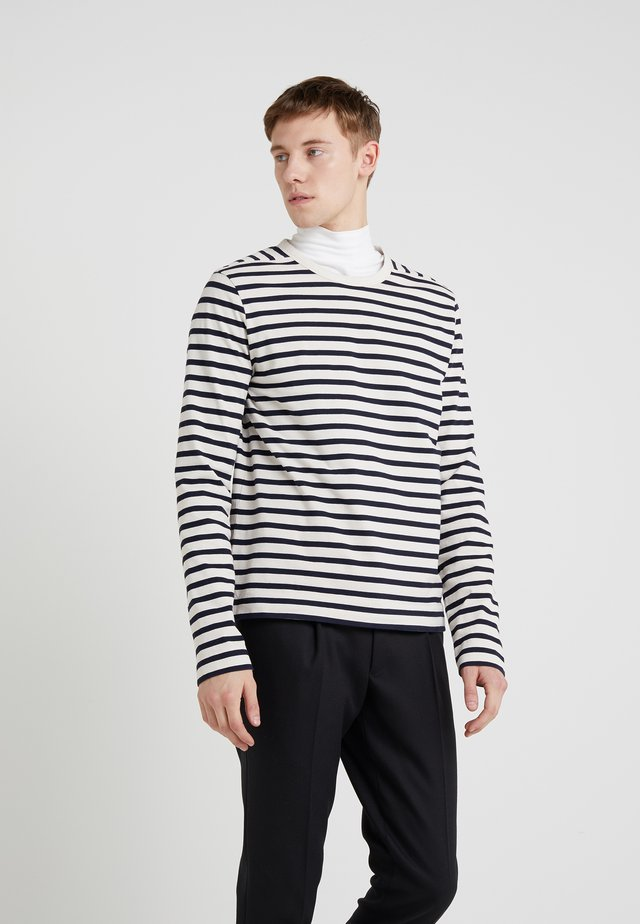 CREW BRETON TEE - Long sleeved top - navy/ecru